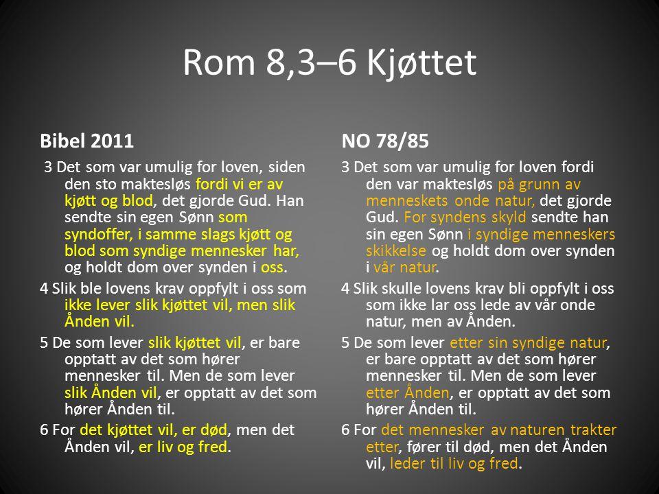 Rom 8,3–6 Kjøttet Bibel 2011. NO 78/85.