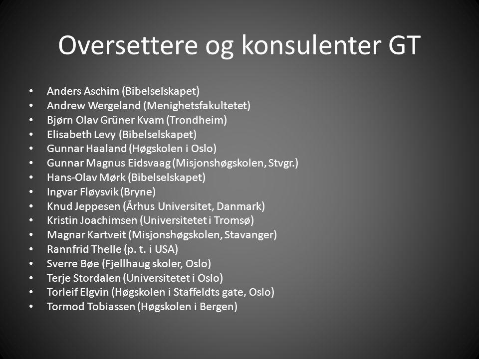 Oversettere og konsulenter GT