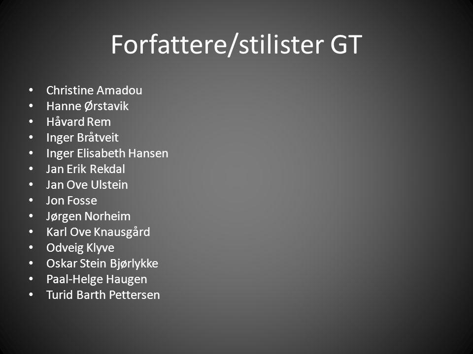 Forfattere/stilister GT