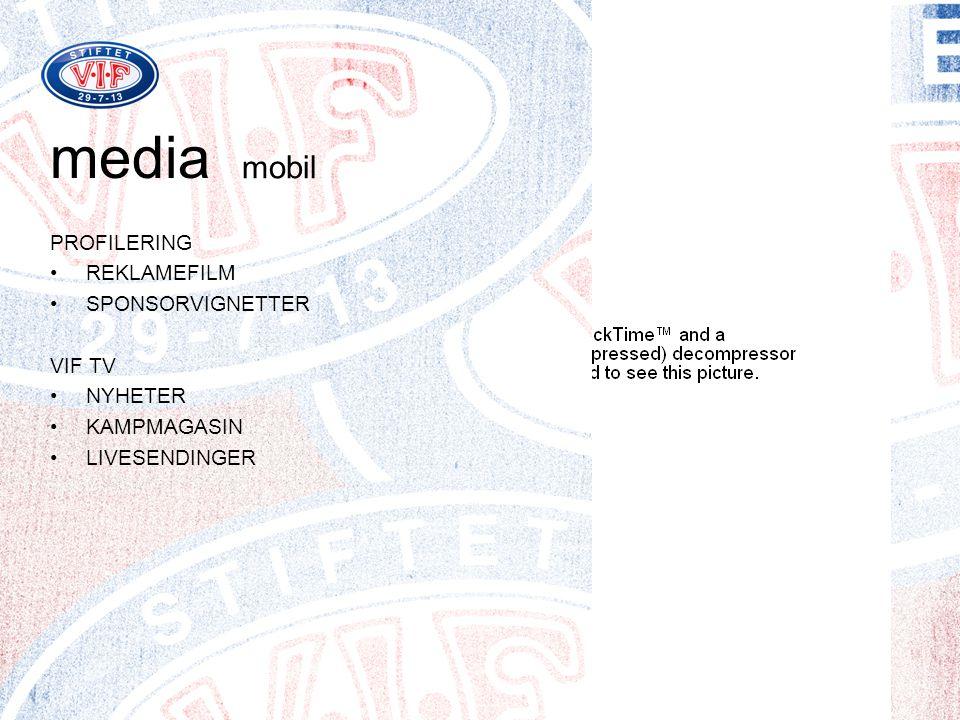 media mobil PROFILERING REKLAMEFILM SPONSORVIGNETTER VIF TV NYHETER