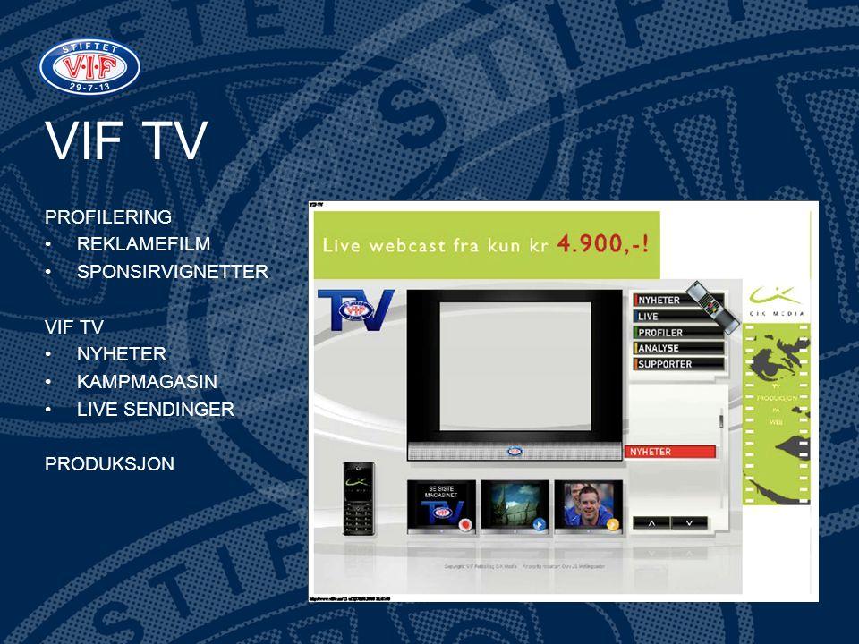 VIF TV PROFILERING REKLAMEFILM SPONSIRVIGNETTER VIF TV NYHETER
