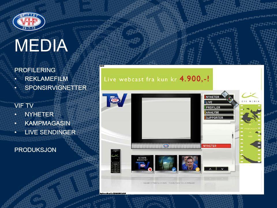 MEDIA PROFILERING REKLAMEFILM SPONSIRVIGNETTER VIF TV NYHETER