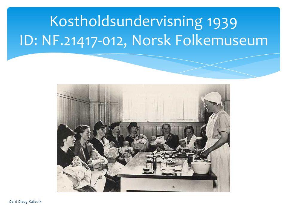 Kostholdsundervisning 1939 ID: NF.21417-012, Norsk Folkemuseum