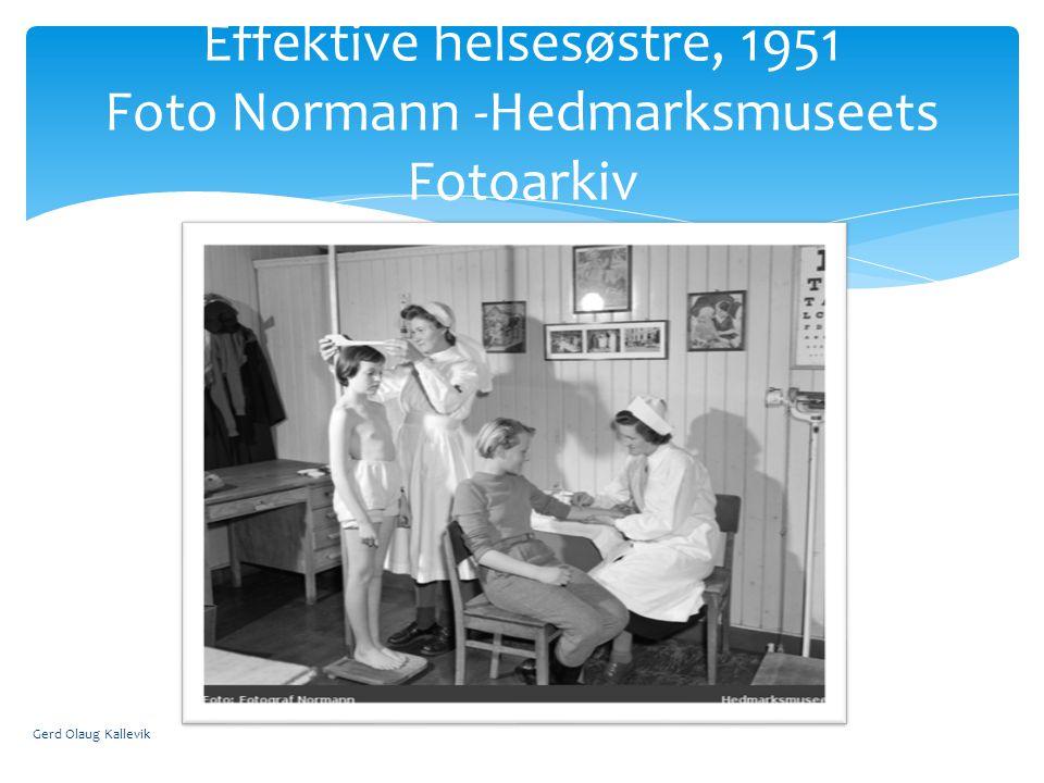 Effektive helsesøstre, 1951 Foto Normann -Hedmarksmuseets Fotoarkiv