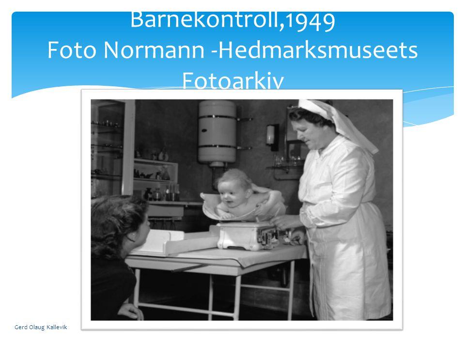 Barnekontroll,1949 Foto Normann -Hedmarksmuseets Fotoarkiv