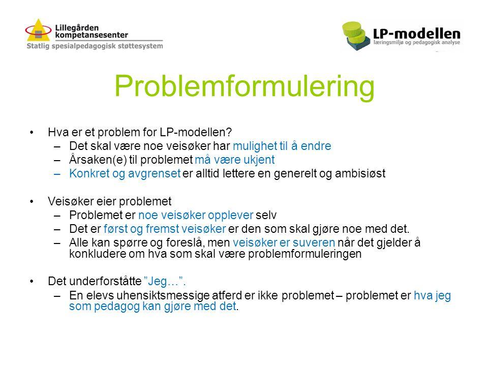 Problemformulering Hva er et problem for LP-modellen