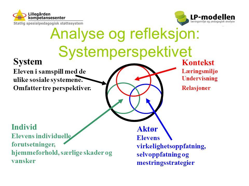 Analyse og refleksjon:
