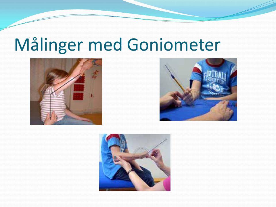 Målinger med Goniometer