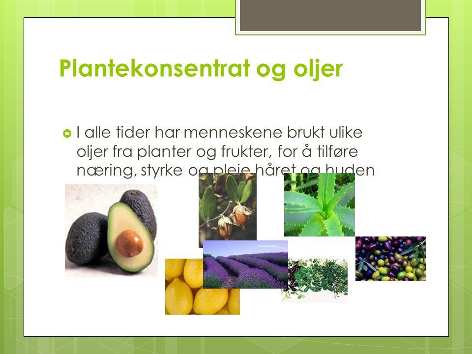 Plantekonsentrat og oljer