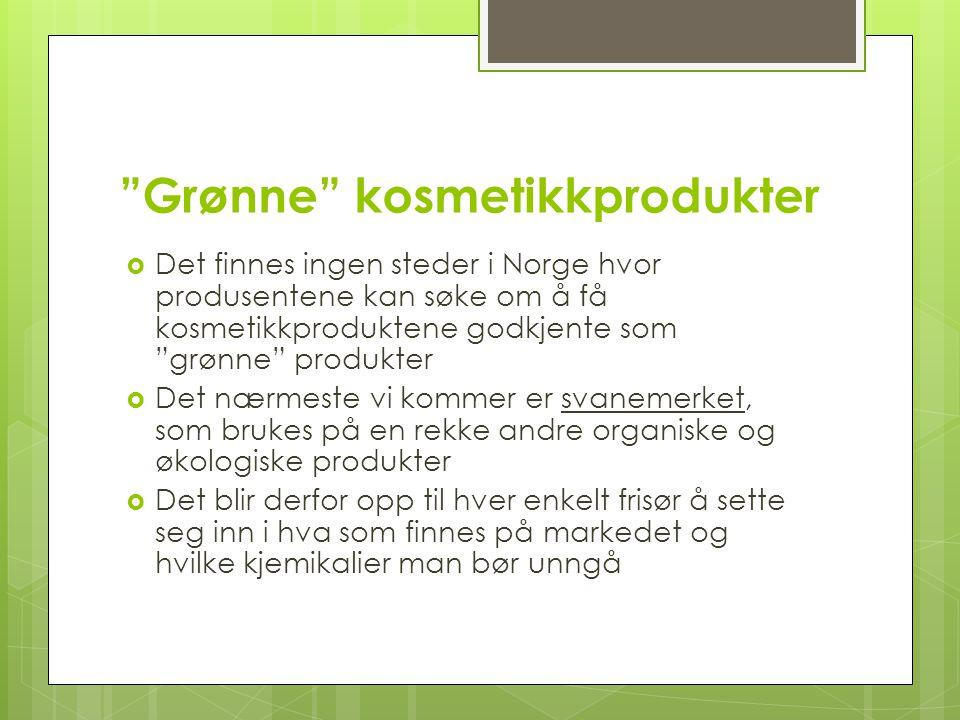 Grønne kosmetikkprodukter