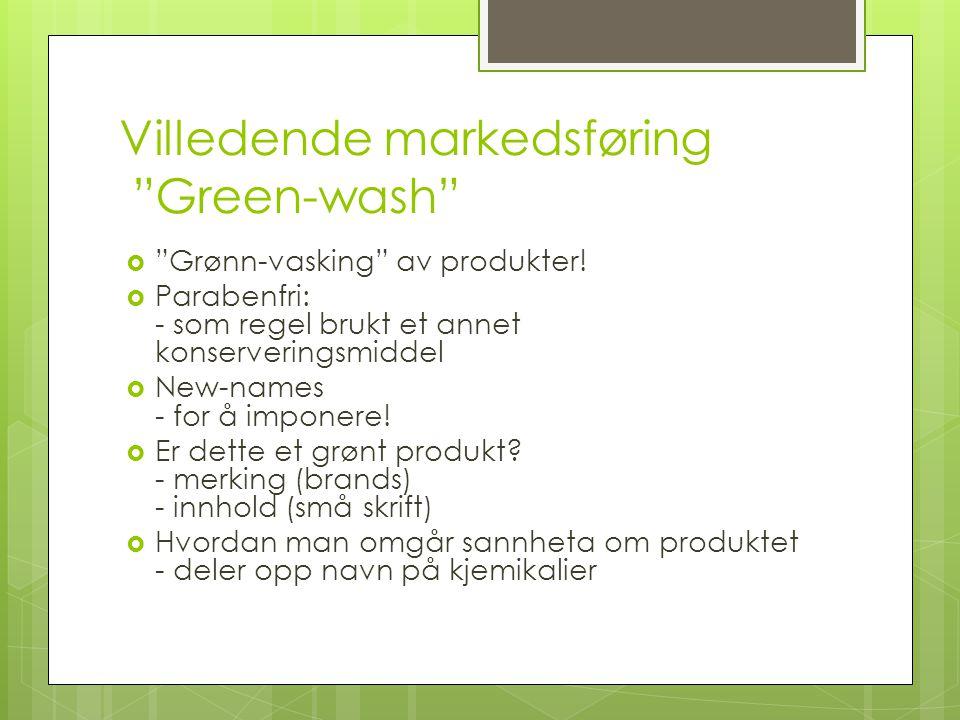 Villedende markedsføring Green-wash