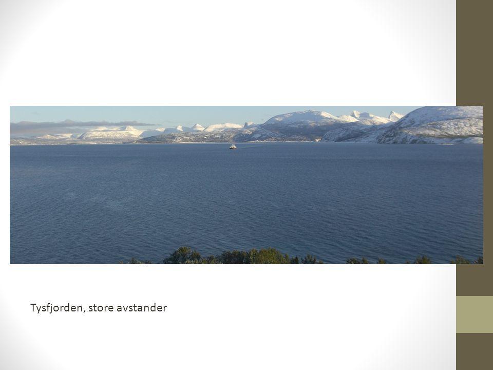 Tysfjorden, store avstander