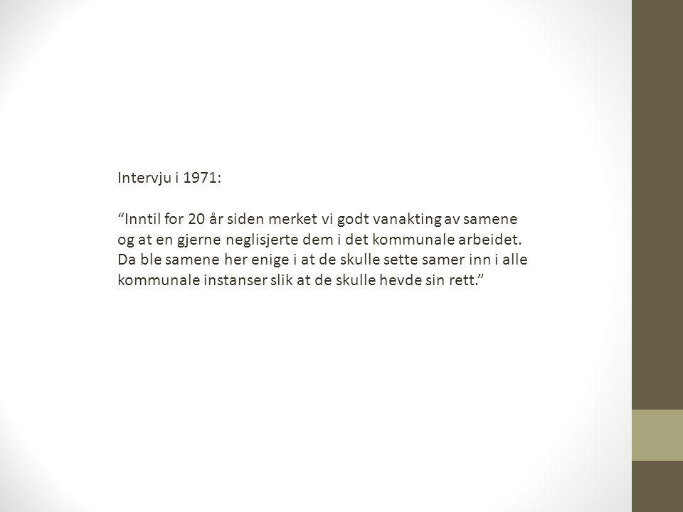 Intervju i 1971: