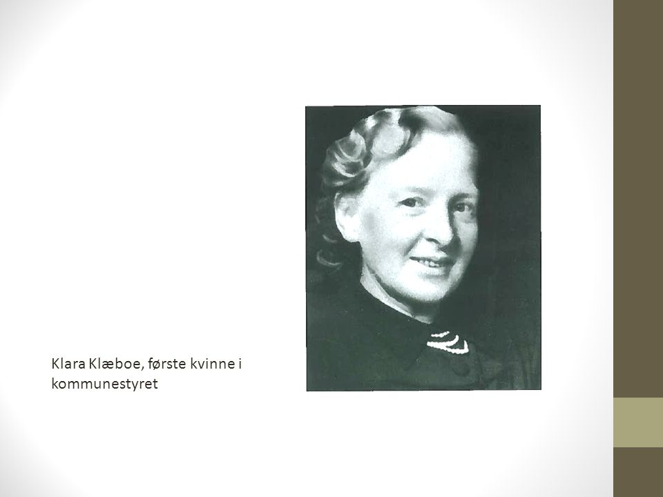 Klara Klæboe, første kvinne i