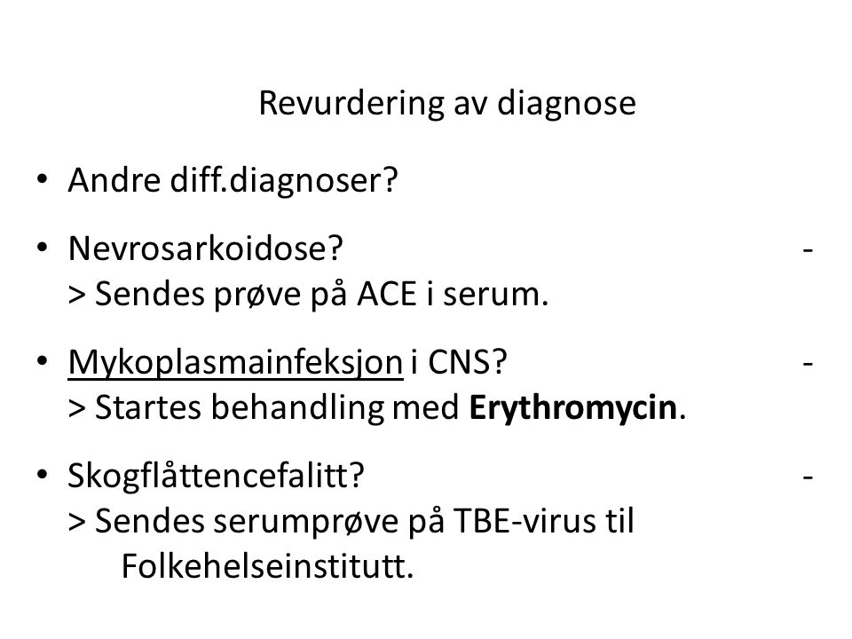 Revurdering av diagnose
