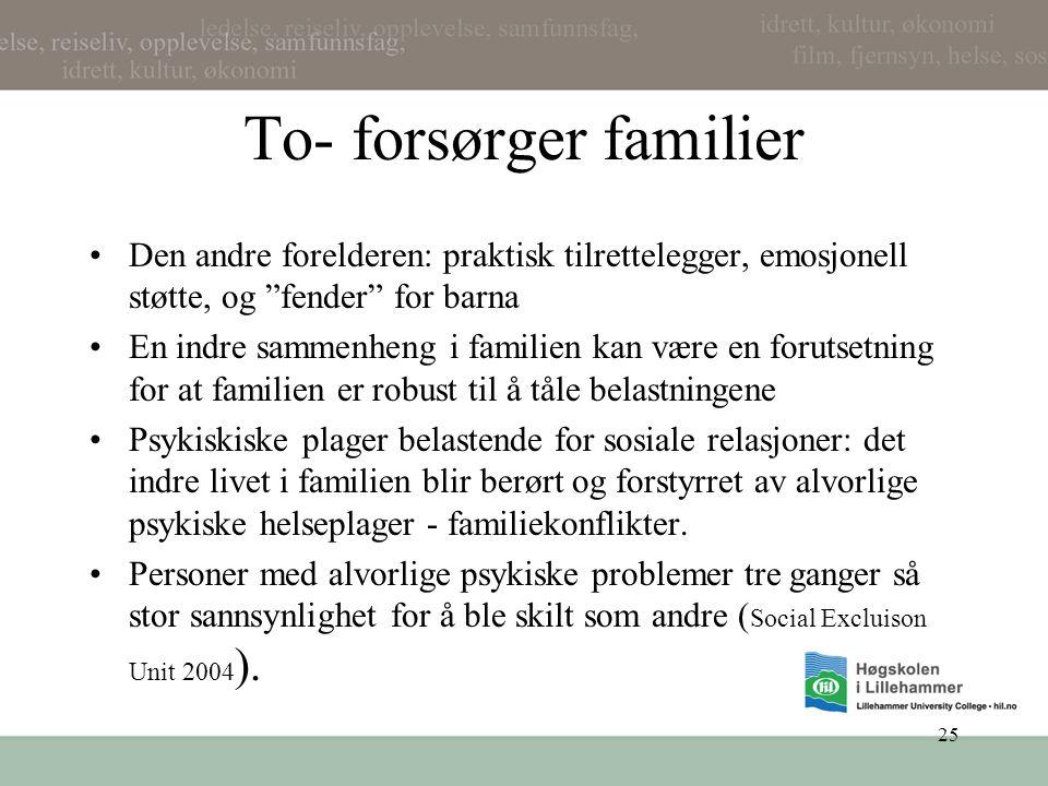 To- forsørger familier