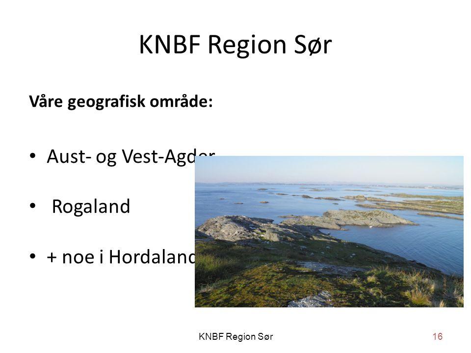 KNBF Region Sør Aust- og Vest-Agder Rogaland + noe i Hordaland