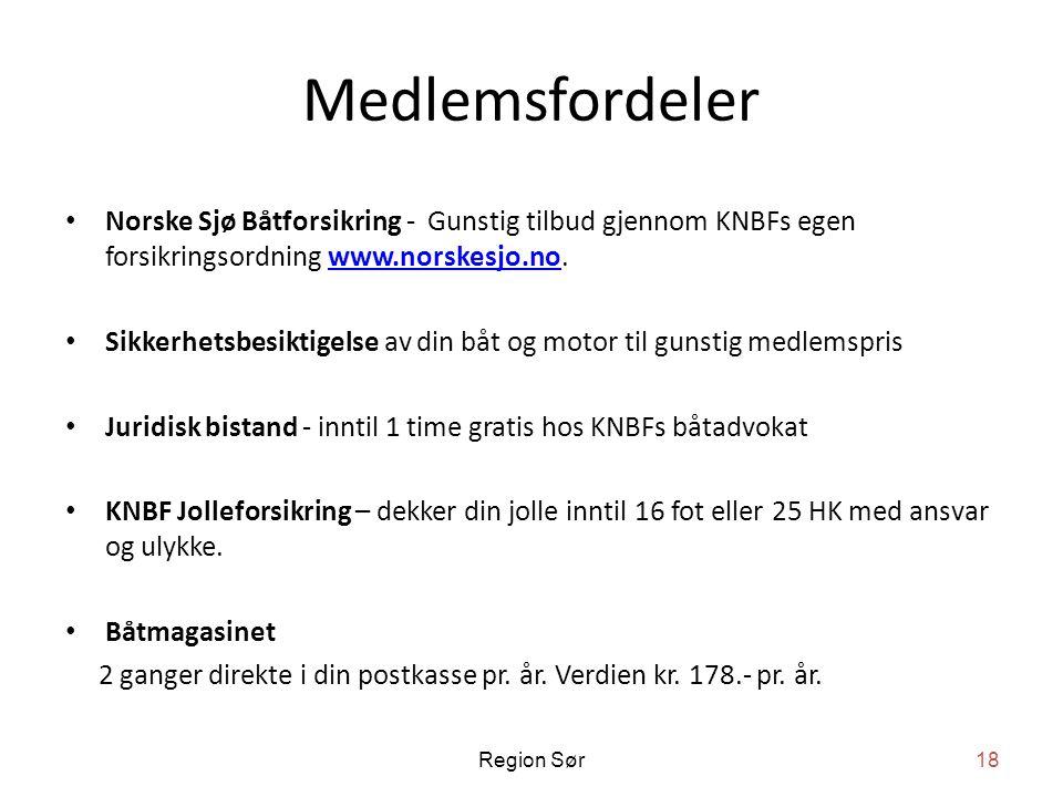 Medlemsfordeler Norske Sjø Båtforsikring - Gunstig tilbud gjennom KNBFs egen forsikringsordning www.norskesjo.no.