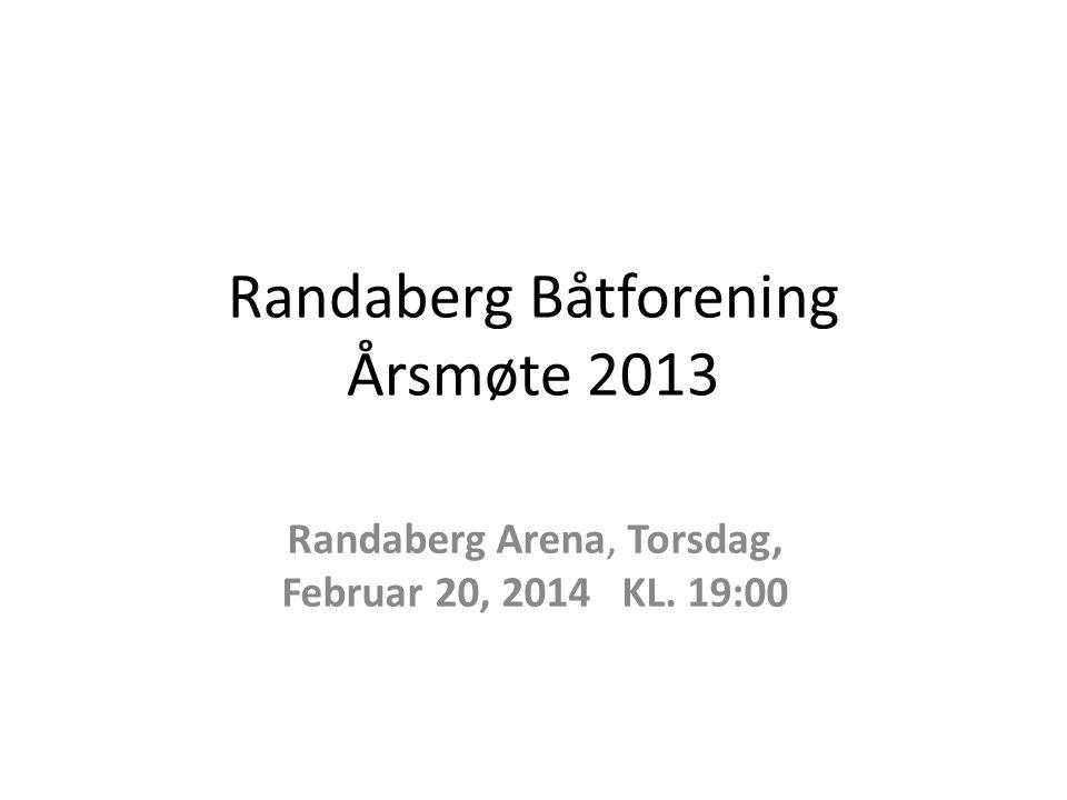 Randaberg Båtforening Årsmøte 2013