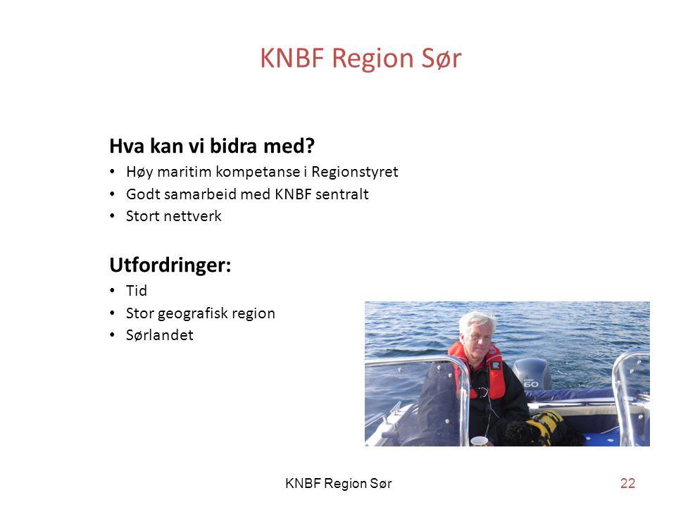 KNBF Region Sør Hva kan vi bidra med Utfordringer: