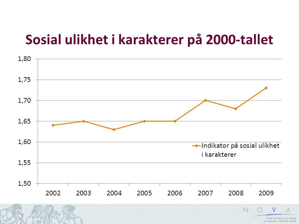 Sosial ulikhet i karakterer på 2000-tallet