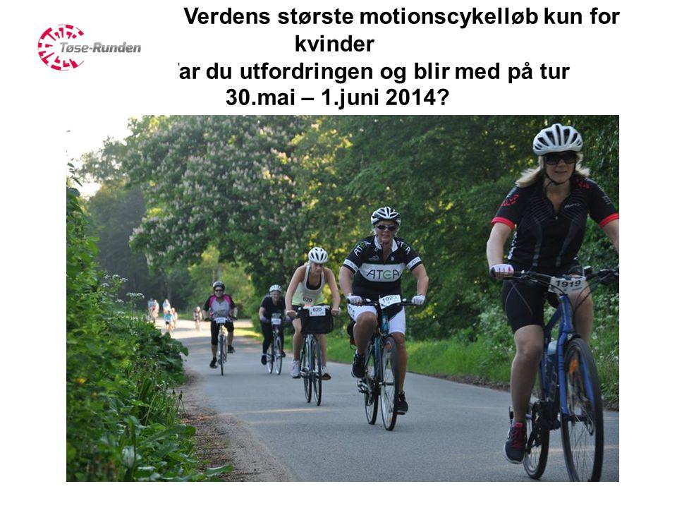 Verdens største motionscykelløb kun for kvinder