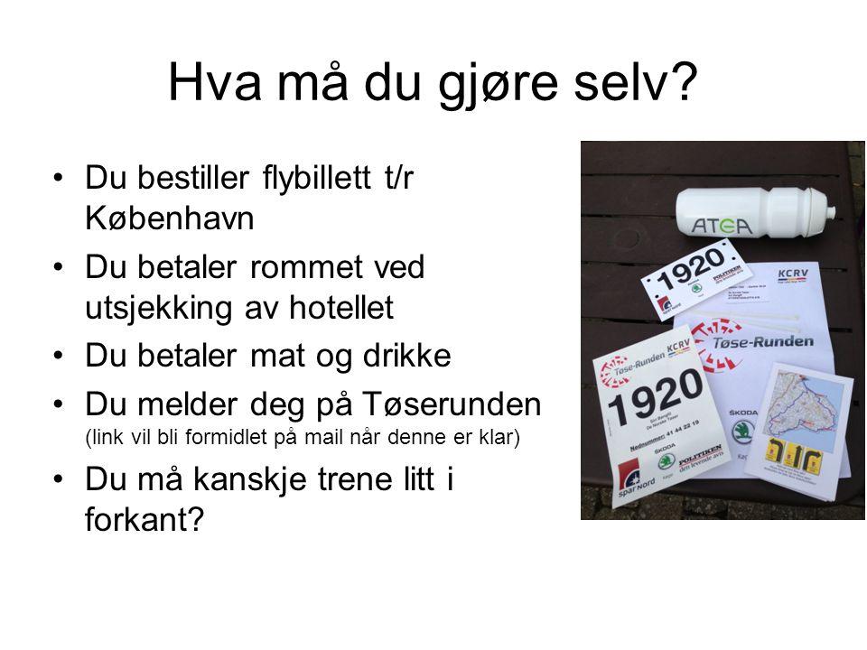 Hva må du gjøre selv Du bestiller flybillett t/r København