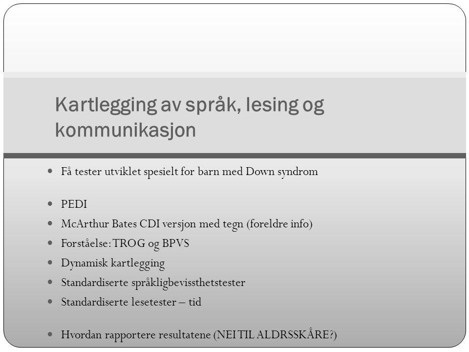 Kartlegging av språk, lesing og kommunikasjon