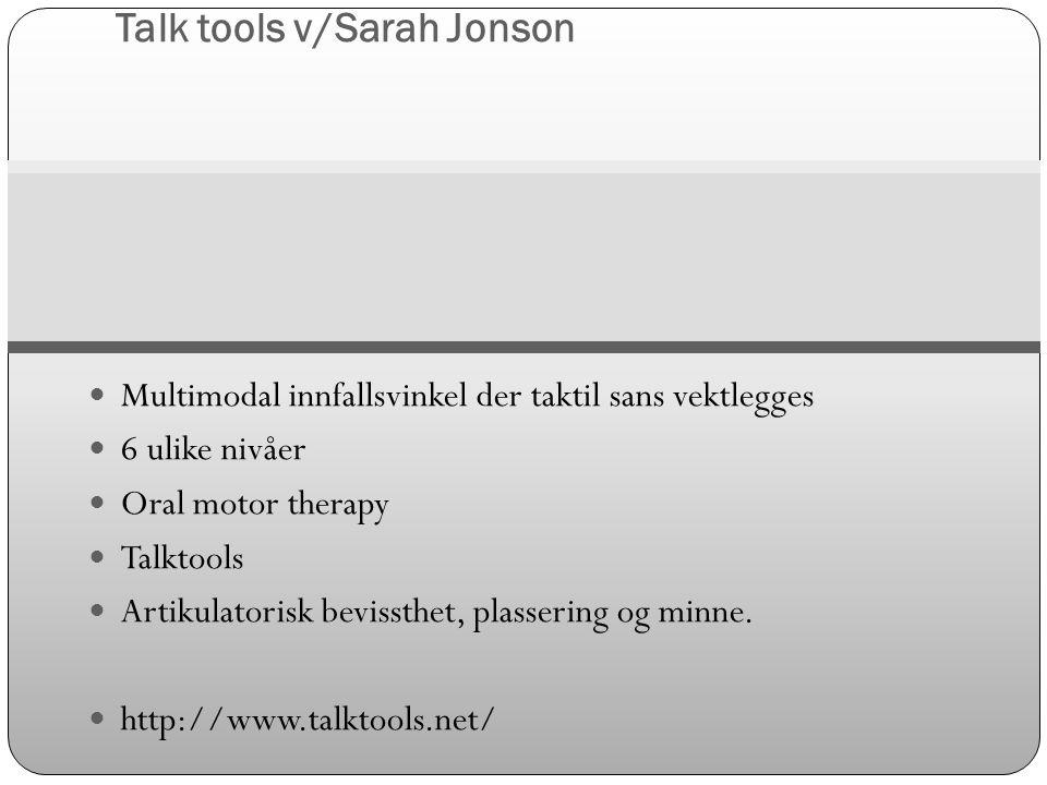 Talk tools v/Sarah Jonson