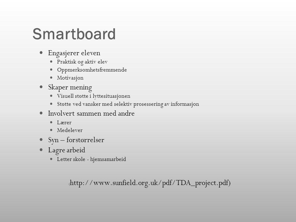 Smartboard Engasjerer eleven Skaper mening Involvert sammen med andre
