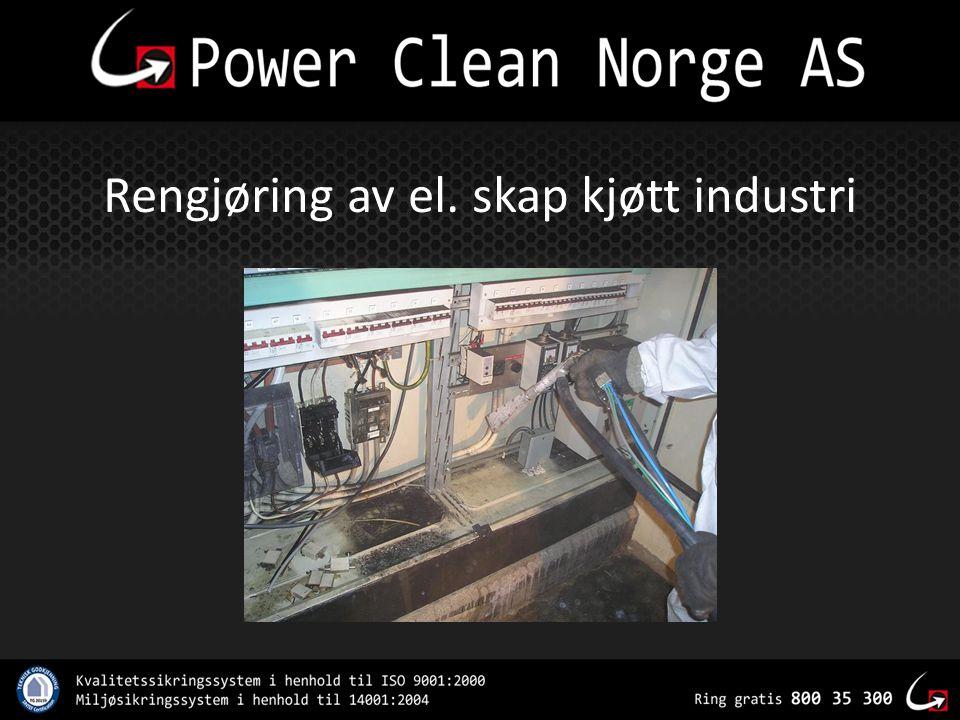 Rengjøring av el. skap kjøtt industri