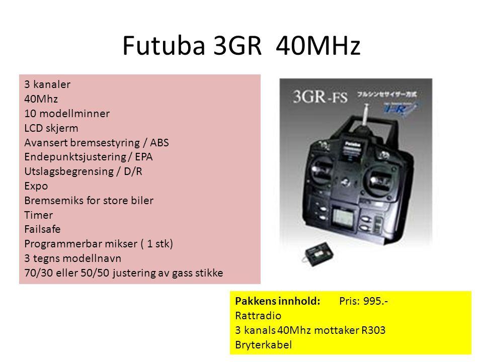 Futuba 3GR 40MHz 3 kanaler 40Mhz