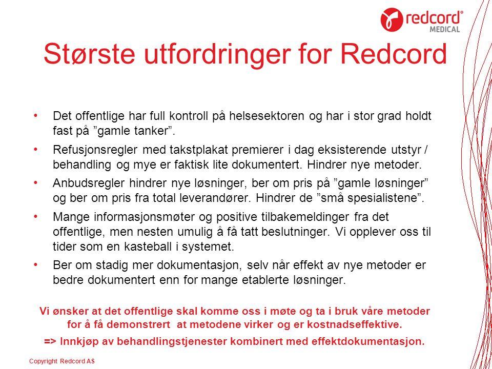 Største utfordringer for Redcord
