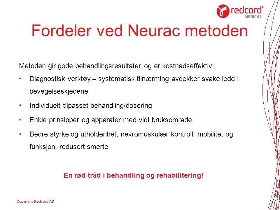 Fordeler ved Neurac metoden