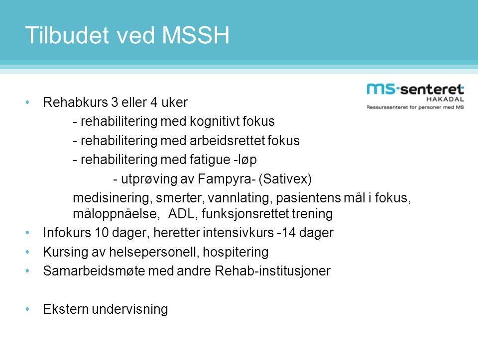 Tilbudet ved MSSH Rehabkurs 3 eller 4 uker