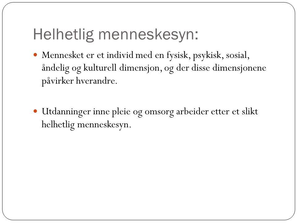 Helhetlig menneskesyn: