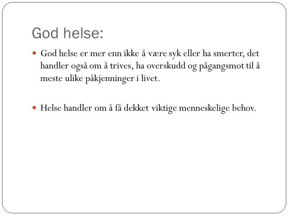 God helse: