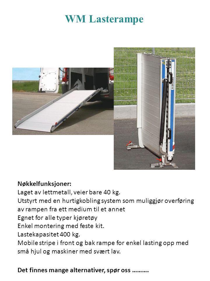 WM Lasterampe Nøkkelfunksjoner: Laget av lettmetall, veier bare 40 kg.