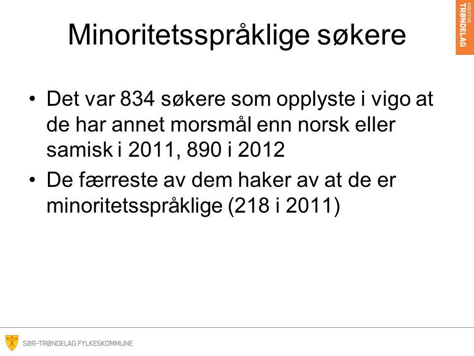 Minoritetsspråklige søkere