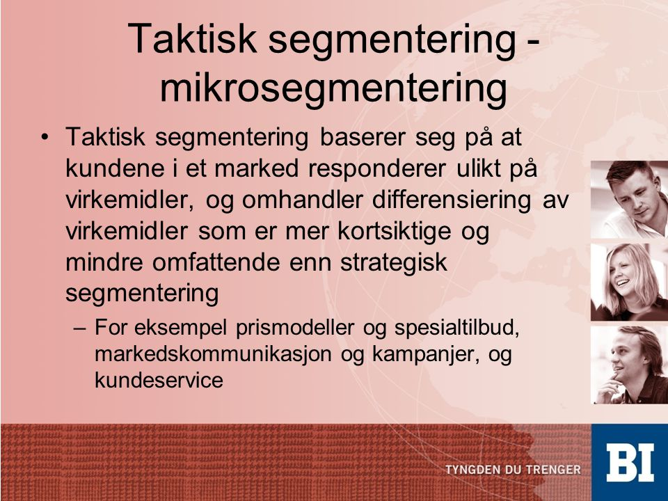 Taktisk segmentering - mikrosegmentering