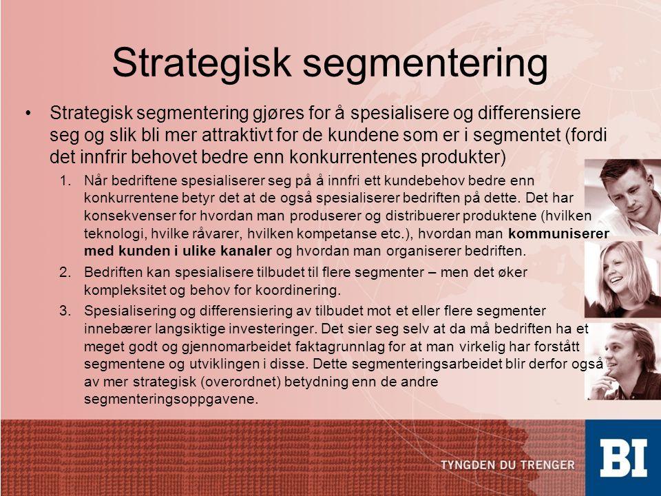 Strategisk segmentering