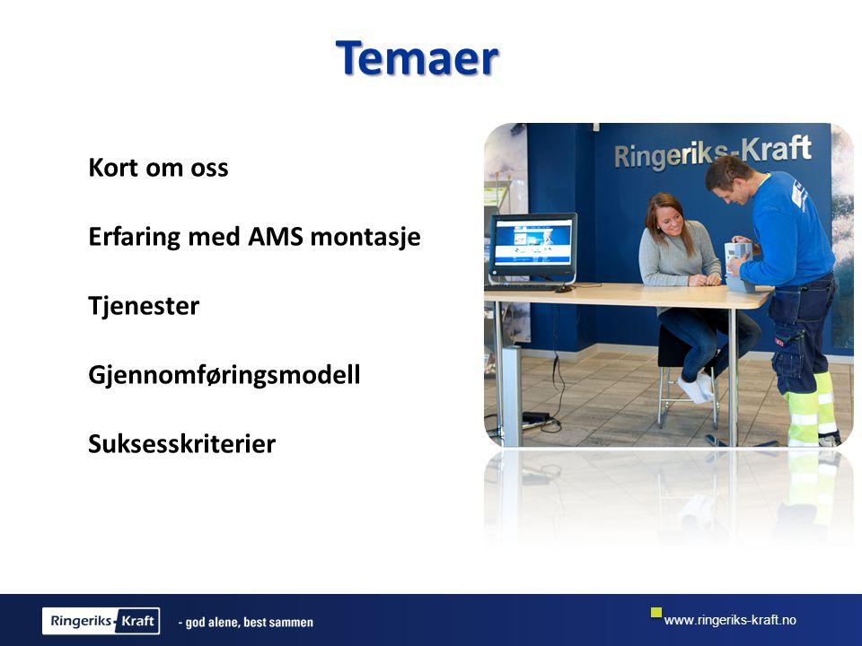 Temaer Kort om oss Erfaring med AMS montasje Tjenester