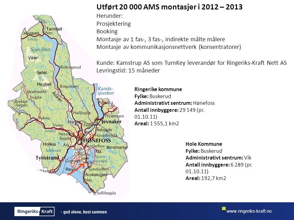 Utført 20 000 AMS montasjer i 2012 – 2013