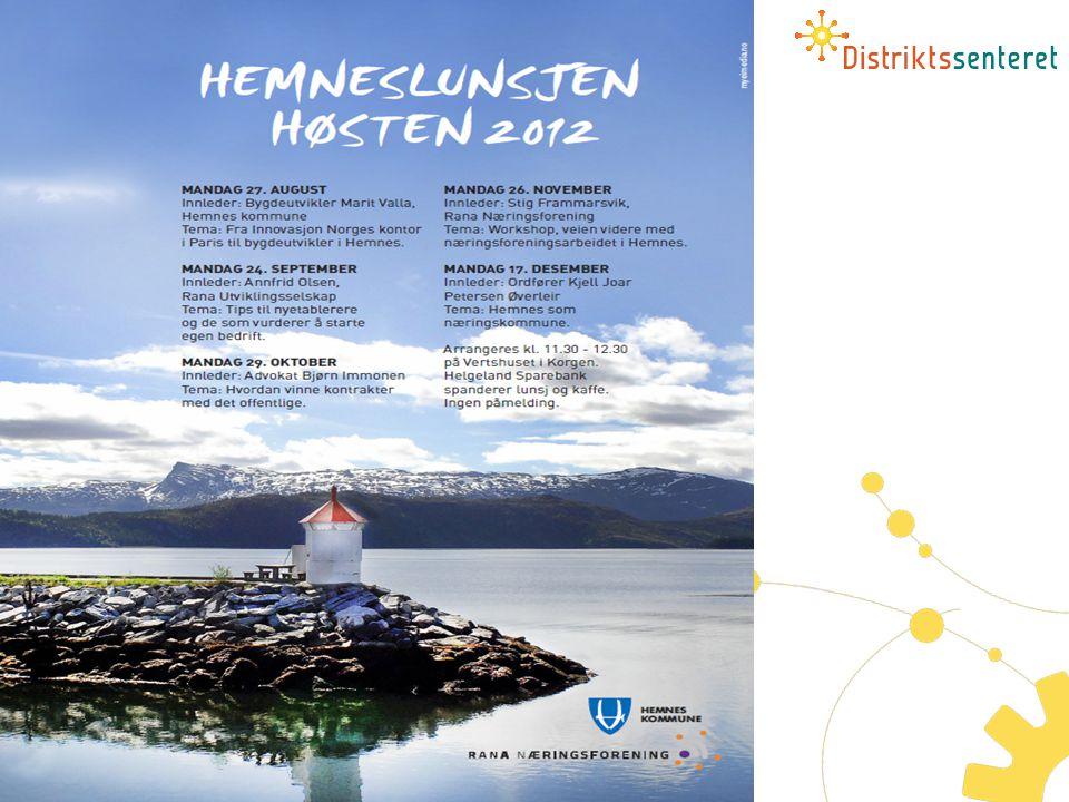 Eksempel: Rana Næringsforening fortsetter med å legge til rette for næringslivslunsjer i Hemnes i høst.