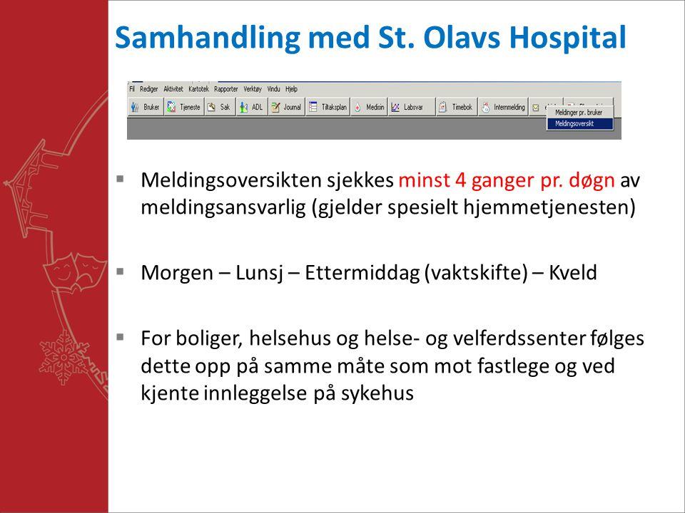 Samhandling med St. Olavs Hospital