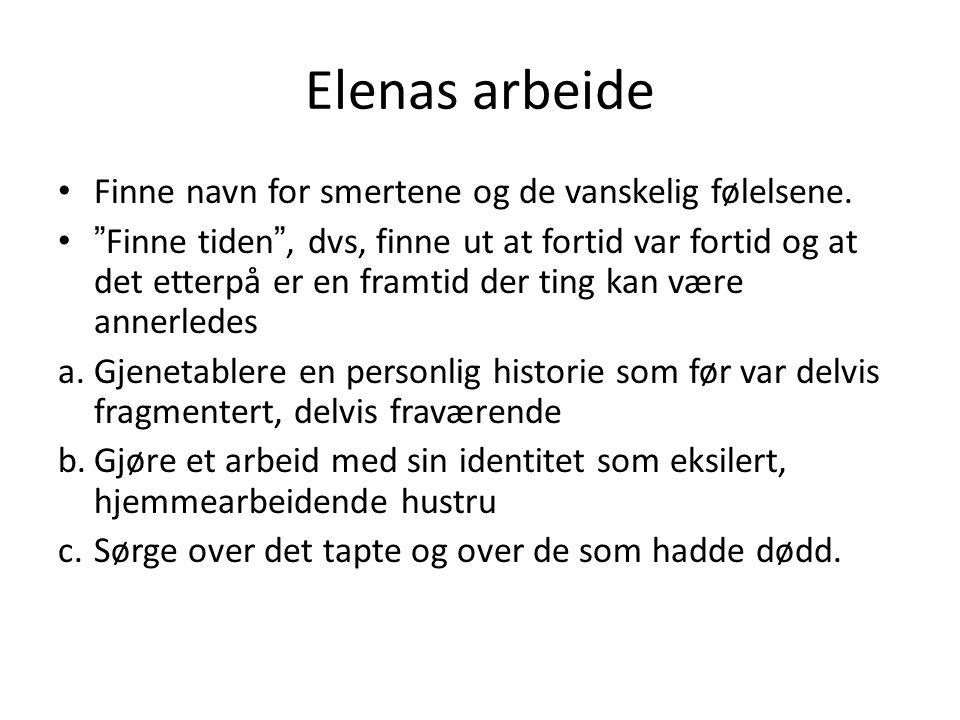Elenas arbeide Finne navn for smertene og de vanskelig følelsene.