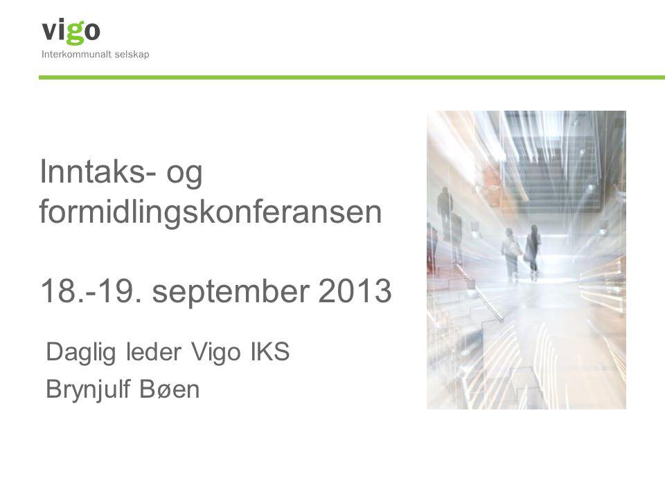Inntaks- og formidlingskonferansen 18.-19. september 2013