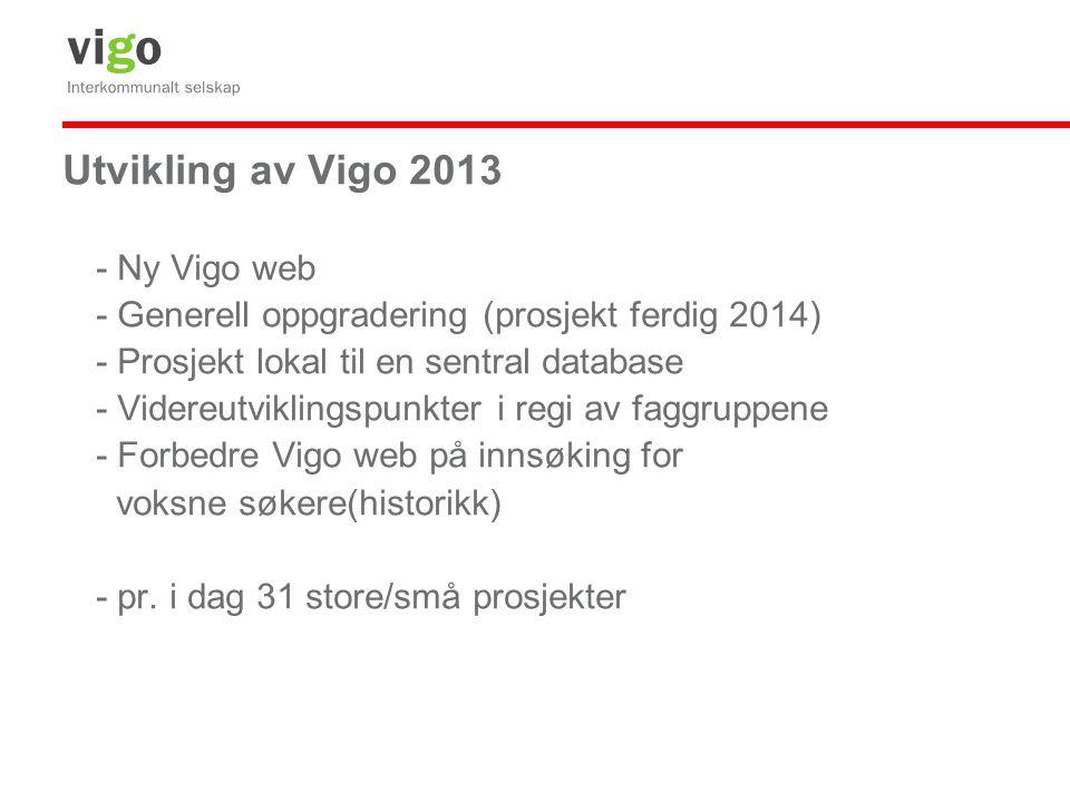 Utvikling av Vigo 2013 - Ny Vigo web