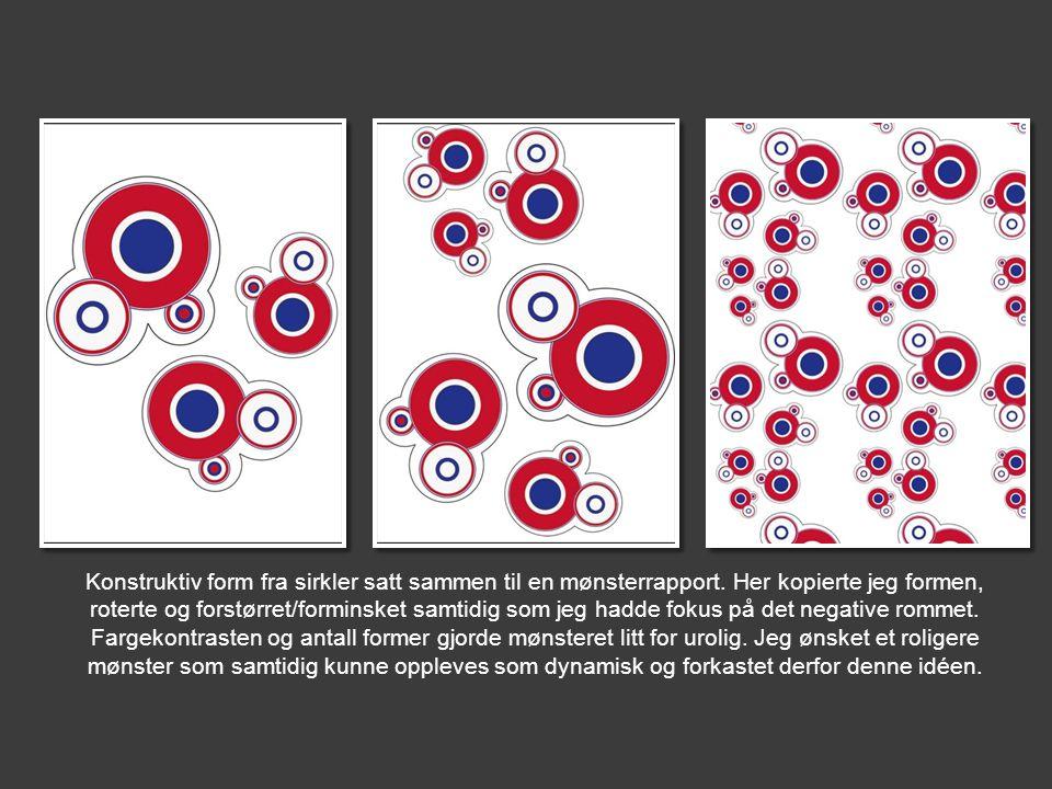 Konstruktiv form fra sirkler satt sammen til en mønsterrapport