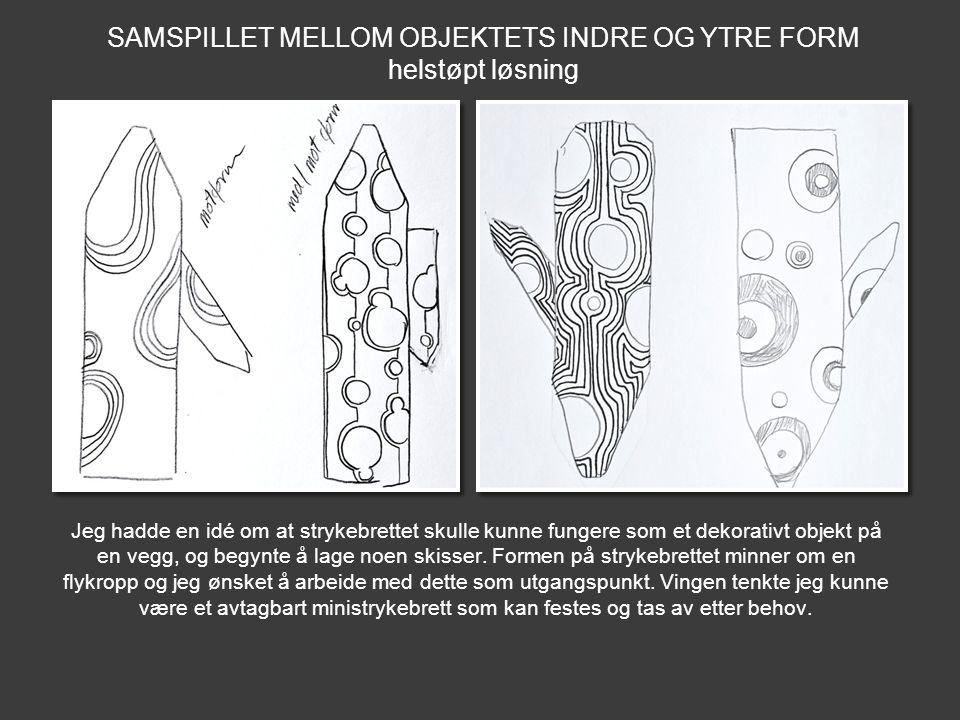 SAMSPILLET MELLOM OBJEKTETS INDRE OG YTRE FORM
